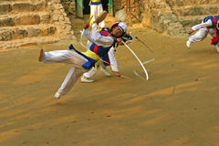 Traditionele Hoedendansers, Zuid-Korea Stock Foto