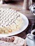 Traditionele Hongaarse Esterhazy-cake Royalty-vrije Stock Afbeeldingen