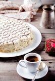 Traditionele Hongaarse Esterhazy-cake Stock Foto