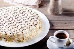 Traditionele Hongaarse Esterhazy-cake Royalty-vrije Stock Afbeelding