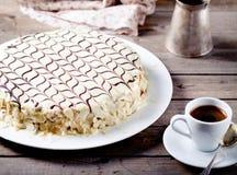 Traditionele Hongaarse Esterhazy-cake Stock Afbeeldingen