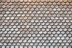 Traditionele houten dakspanen Stock Afbeelding