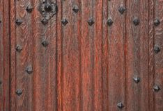 Traditionele houten deur Stock Afbeeldingen
