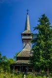 Traditionele houten kerk op Maramures-gebied, Roemenië Stock Foto's