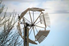Traditionele houten windmolen, Kansas Royalty-vrije Stock Afbeeldingen