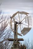 Traditionele houten windmolen, Kansas Royalty-vrije Stock Afbeelding
