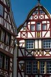 Traditionele houthuizen in de Vallei Duitsland van Moezel Royalty-vrije Stock Fotografie