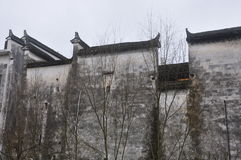 Traditionele Hui-stijlarchitectuur in Wuyuan provincie-Jiangxi provincie-China Royalty-vrije Stock Afbeelding