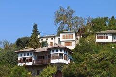 Traditionele huizen in Pelion in Griekenland Royalty-vrije Stock Afbeelding