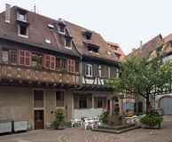 Traditionele huizen in Selestat Stock Fotografie
