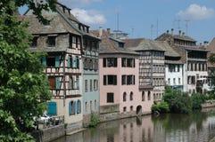 Traditionele huizen in Straatsburg royalty-vrije stock fotografie