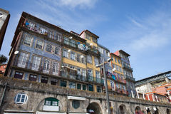 Traditionele Huizen van Porto Stock Foto