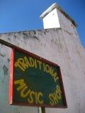 Traditionele Ierse muziekwinkel Stock Afbeeldingen