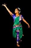 Traditionele Indische Dansuitdrukking Stock Afbeelding