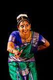 Traditionele Indische Dansuitdrukking Royalty-vrije Stock Foto's