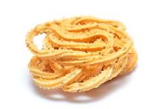 Traditionele Indische Diwali-snacks Chakali stock afbeeldingen