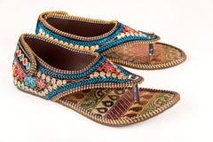 Traditionele Indische etnische sandals Royalty-vrije Stock Foto