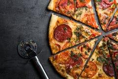 Traditionele Italiaanse pizza Royalty-vrije Stock Foto