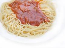 Het traditionele Italiaanse Wachten op van de spaghetti Stock Foto's
