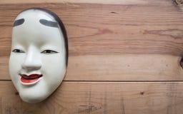 Traditionele Japanse die theatermaskers van ijzer worden gemaakt Royalty-vrije Stock Afbeelding