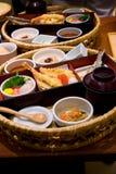 Traditionele Japanse in dozen gedane diner of lunch Royalty-vrije Stock Foto