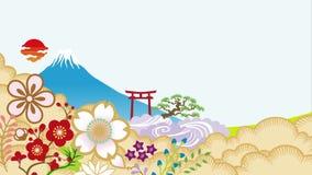 Traditionele Japanse Nieuwjaaranimatie vector illustratie
