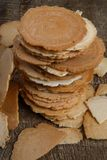 Traditionele Japanse rijstcrackers - senbei stock fotografie