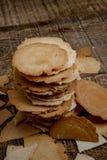 Traditionele Japanse rijstcrackers - senbei royalty-vrije stock foto's