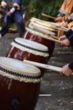 Traditionele Japanse trommel stock afbeelding