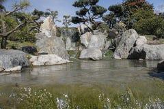 Traditionele Japanse Tuin in Buenos aires, Argentinië Stock Fotografie