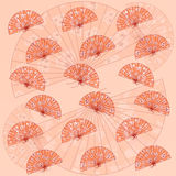 Traditionele Japanse ventilatorachtergrond Stock Foto