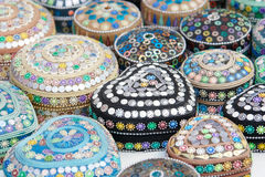 Traditionele juwelendozen in Sarajova Stock Foto