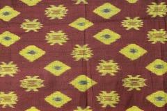 Traditionele kain endek van Bali Stock Fotografie