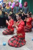 Traditionele kepulauan dans konawe stock afbeeldingen