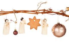 Traditionele Kerstmis. Dunne samenstelling. Stock Foto's