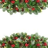 Traditionele Kerstmis en de Wintergrens stock foto
