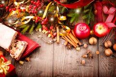 Traditionele Kerstmis Stollen stock fotografie