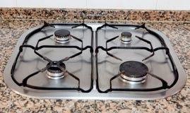 Traditionele Keuken met vier-brander Stock Foto