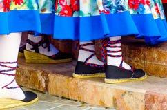 Traditionele kleurrijke schoenen voor volkskostuums in Spanje, danssho royalty-vrije stock afbeelding