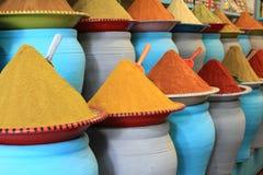 Traditionele kruidenmarkt in Marokko Afrika Royalty-vrije Stock Fotografie