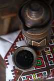 Traditionele kruik wijn Royalty-vrije Stock Afbeeldingen