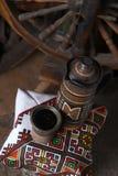 Traditionele kruik wijn Stock Afbeeldingen