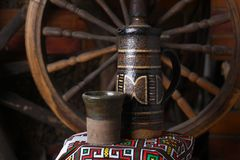 Traditionele kruik wijn Royalty-vrije Stock Fotografie