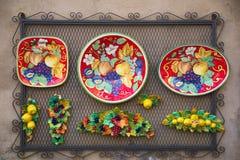 Traditionele kunstkeramiek, orvieto, terni, Umbrië Italië, Europa royalty-vrije stock afbeeldingen