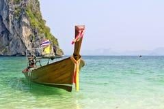 Traditionele lange staartboten, Andaman Overzees, Thaila Royalty-vrije Stock Foto