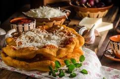 Traditionele langos Stock Foto's