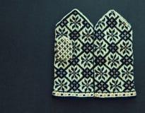Traditionele Letse vuisthandschoenen Stock Foto