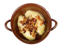 Traditionele Litouwse maaltijd Cepelinai royalty-vrije stock afbeelding