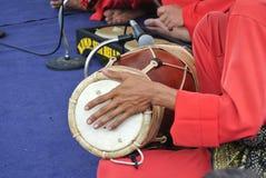 Traditionele Maleisische Gendang of Traditionele Maleisische trommel Royalty-vrije Stock Afbeeldingen