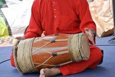 Traditionele Maleisische Gendang of Traditionele Maleisische trommel Stock Fotografie